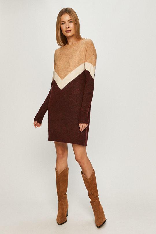 Vero Moda - Sukienka purpurowy