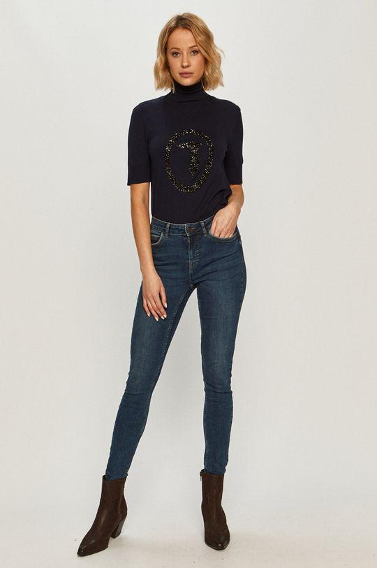 Trussardi Jeans - Sweter granatowy