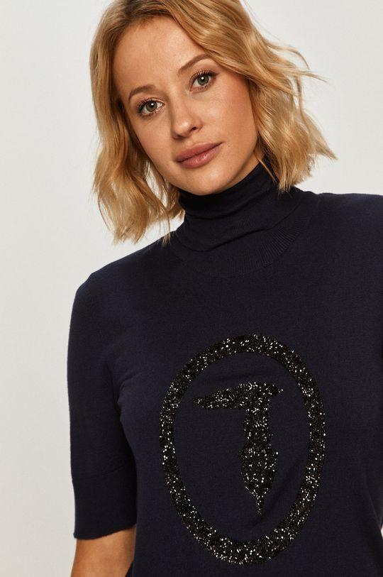 granatowy Trussardi Jeans - Sweter
