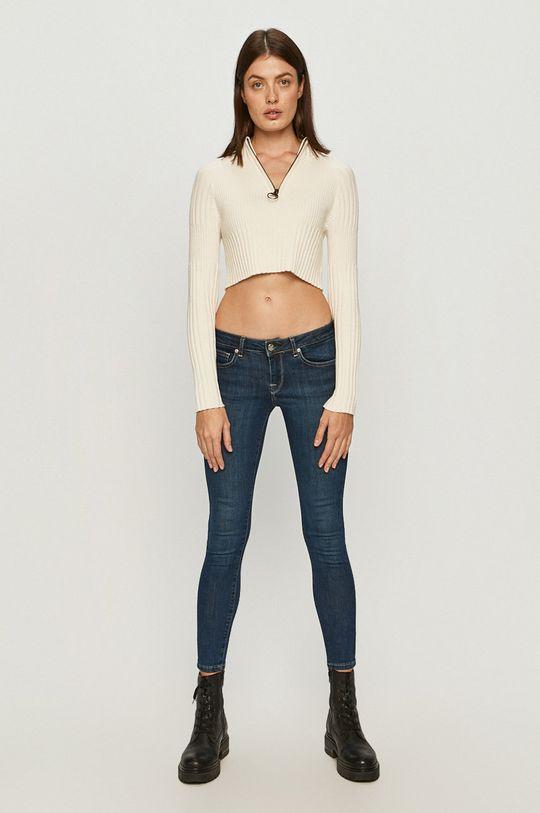 Pepe Jeans - Sweter Juliette x Dua Lipa kremowy