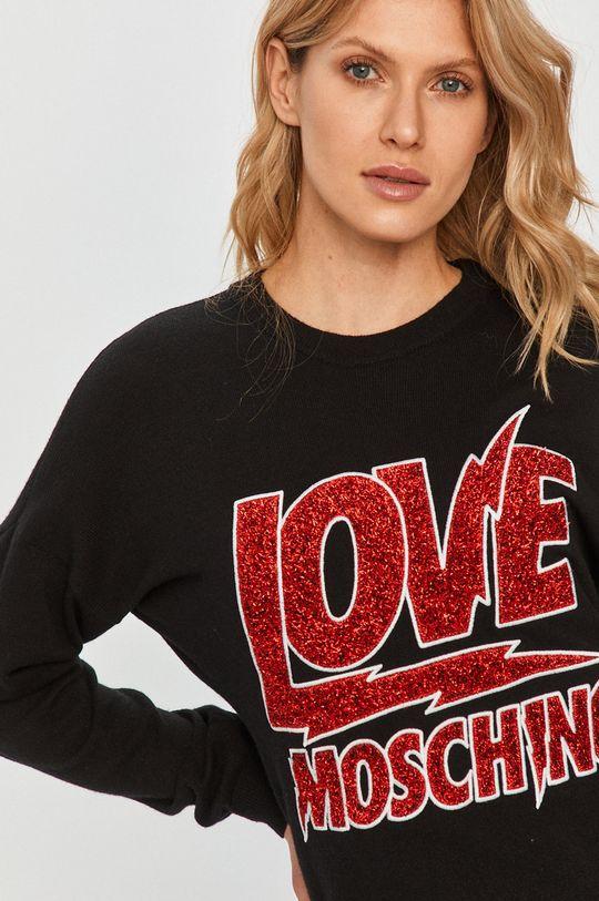 czarny Love Moschino - Sweter