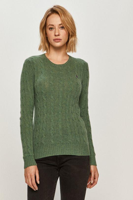 zelená Polo Ralph Lauren - Vlnený sveter Dámsky