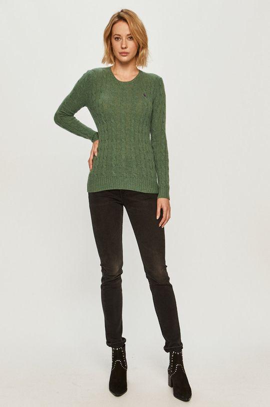 Polo Ralph Lauren - Vlnený sveter zelená