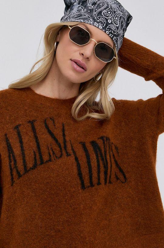 złoty brąz AllSaints - Sweter
