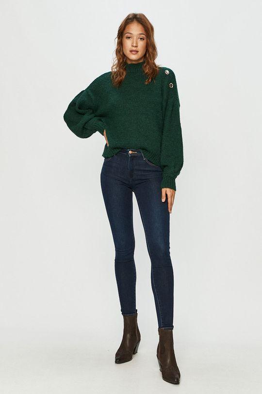 Vero Moda - Sweter stalowy zielony