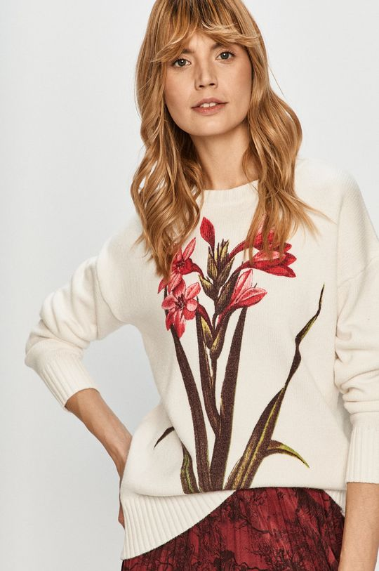 biały Desigual - Sweter