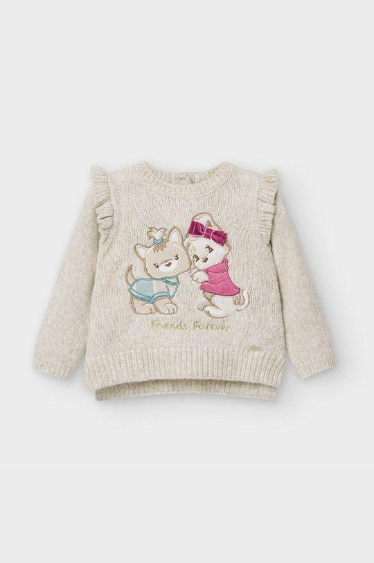 svetlobéžová Mayoral - Detský sveter 68-98 cm Dievčenský