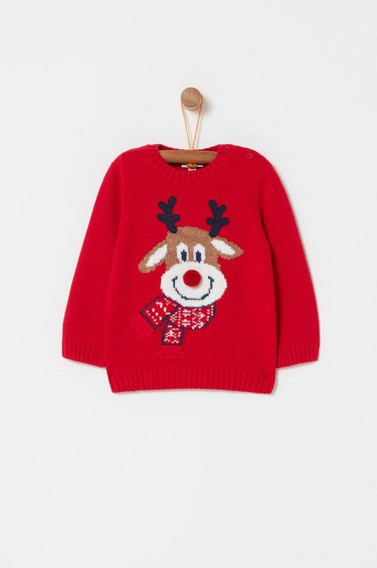 czerwony OVS - Sweter dziecięcy 74-98 cm Dziecięcy