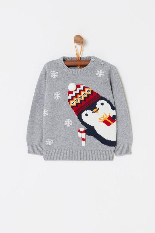 jasny szary OVS - Sweter dziecięcy 74-98 cm Dziecięcy