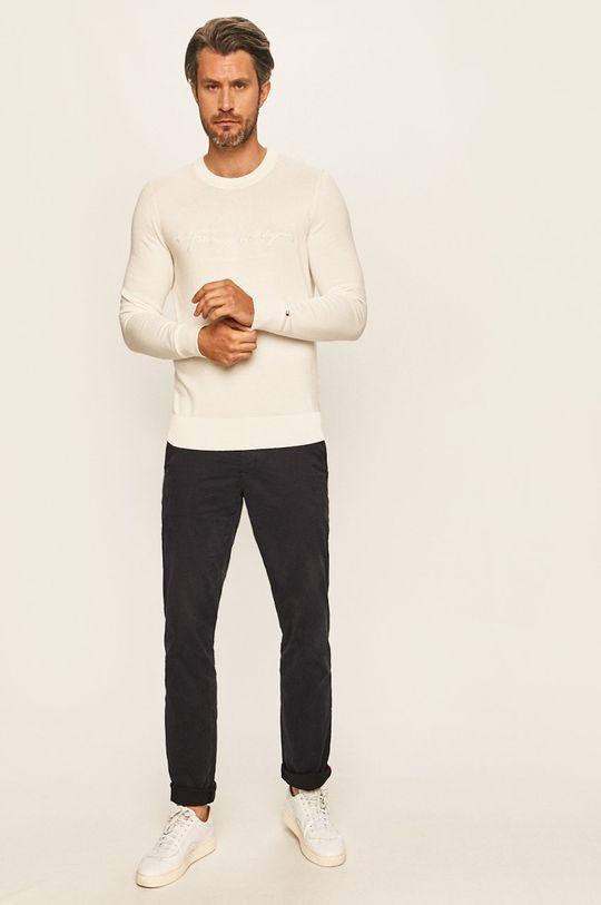 Tommy Hilfiger - Sweter kremowy
