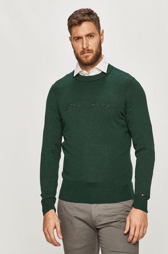 ciemny zielony Tommy Hilfiger - Sweter Męski
