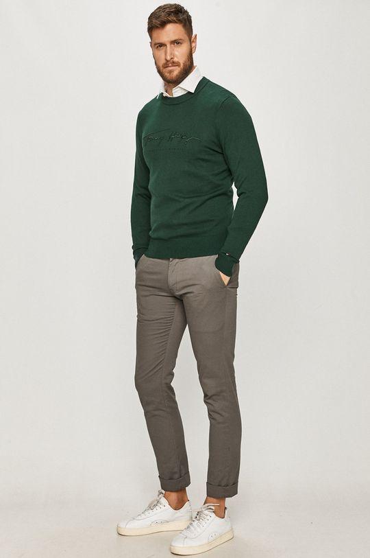 Tommy Hilfiger - Sweter ciemny zielony