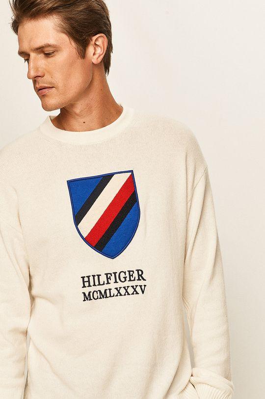 biały Tommy Hilfiger - Sweter Męski