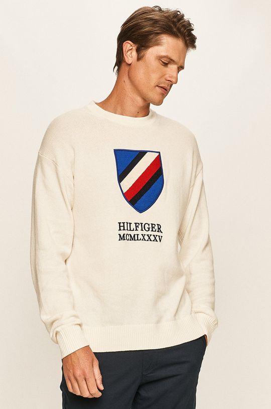 biały Tommy Hilfiger - Sweter