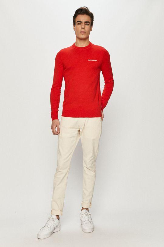 Calvin Klein Jeans - Sweter czerwony