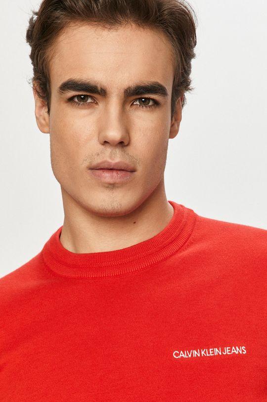 czerwony Calvin Klein Jeans - Sweter