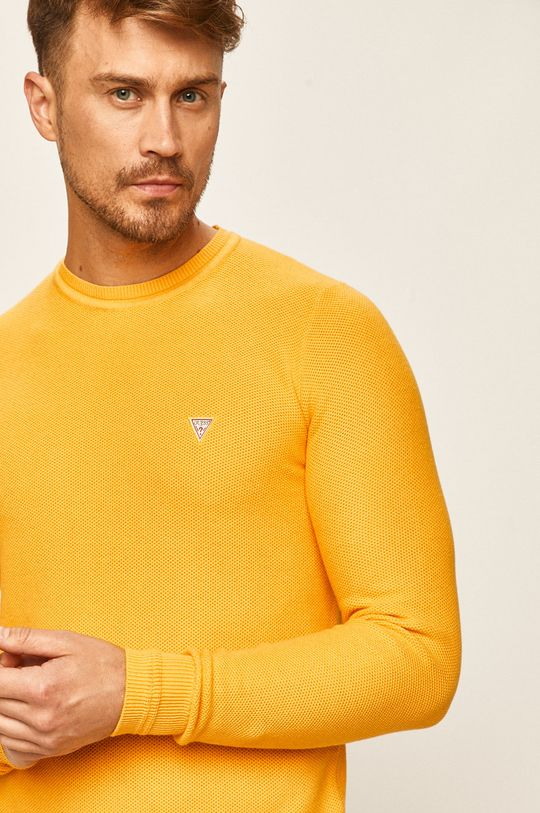 galben Guess Jeans - Pulover De bărbați