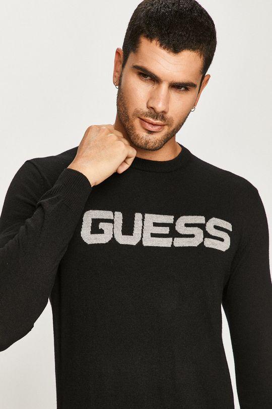 čierna Guess Jeans - Sveter Pánsky