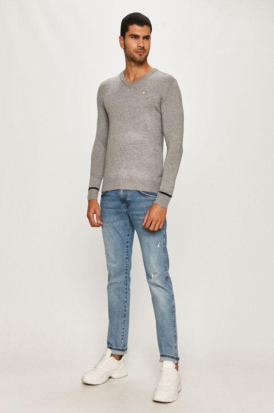 Guess Jeans - Sveter svetlosivá