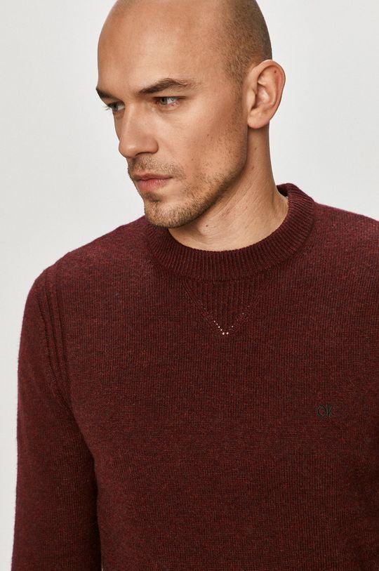 kasztanowy Calvin Klein - Sweter K10K105748 Męski