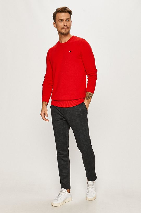 Tommy Jeans - Pulover rosu