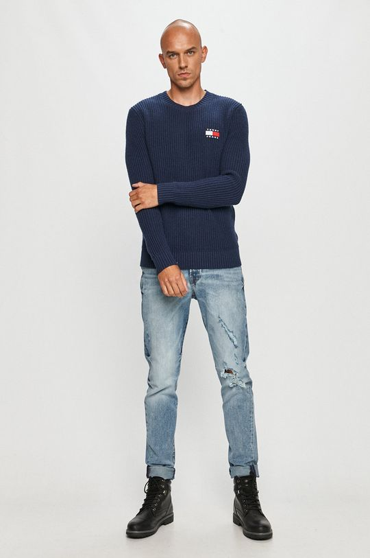 Tommy Jeans - Pulover bleumarin
