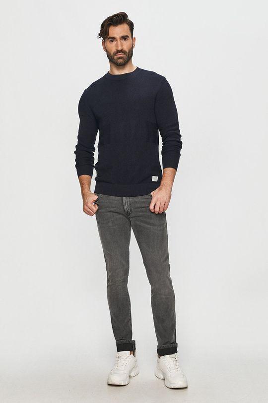 Pepe Jeans - Svetr Oscar námořnická modř