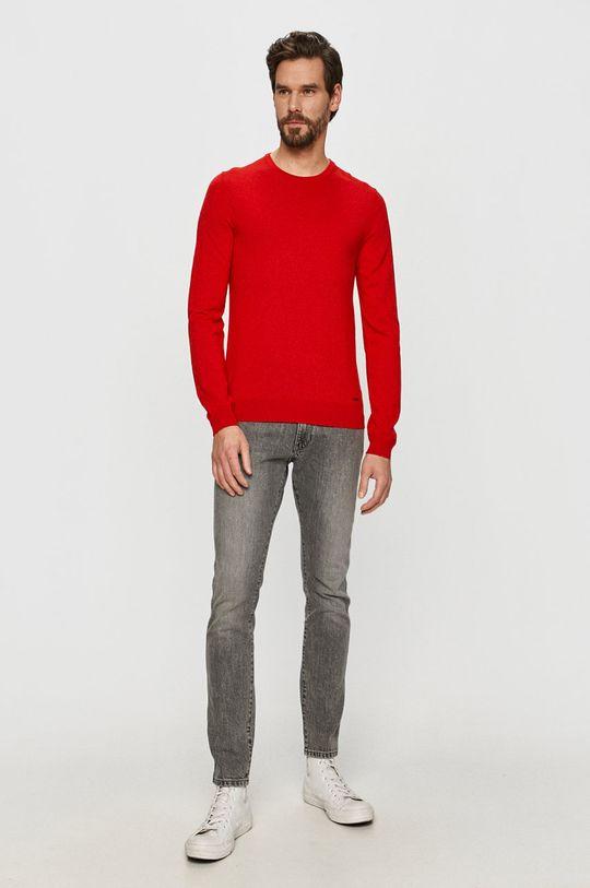 Hugo - Sweter czerwony