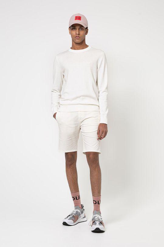 Hugo - Sweter kremowy