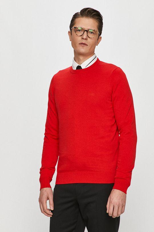 czerwony Hugo - Sweter Męski