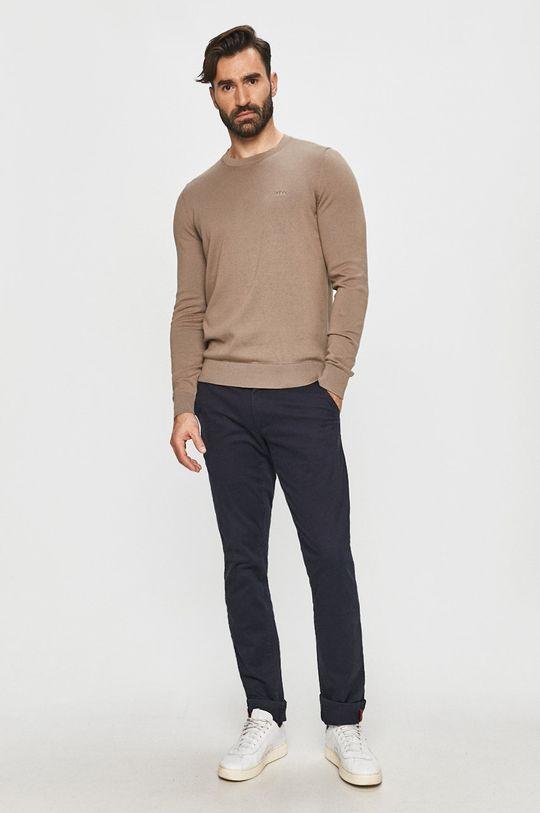 Hugo - Sweter beżowy