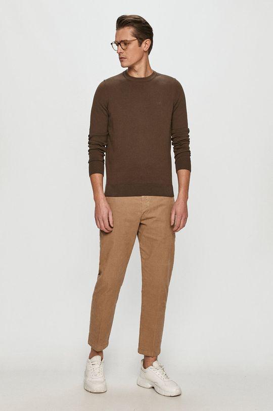 Hugo - Sweter brązowy