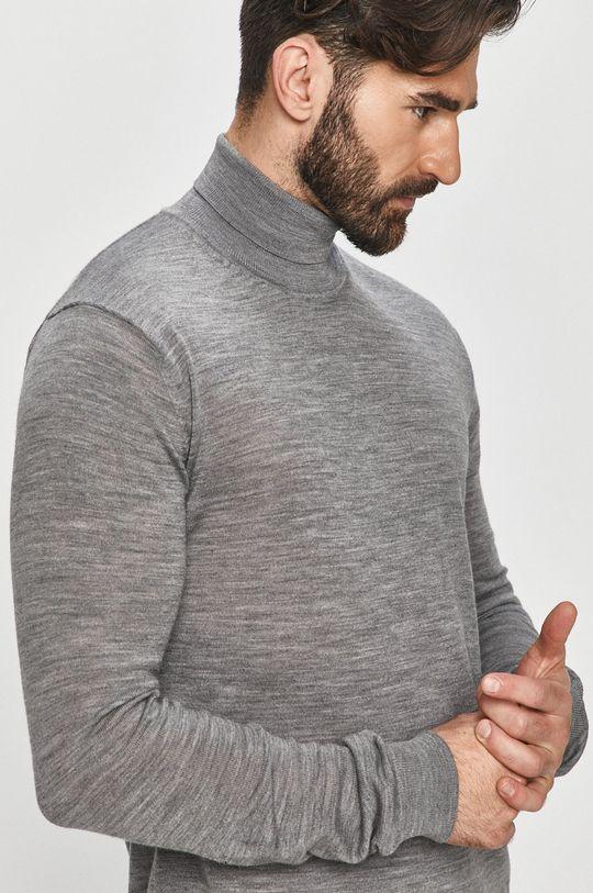 szary Tailored & Originals - Sweter Męski