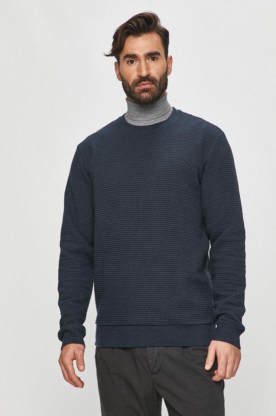 granatowy Tailored & Originals - Bluza bawełniana Męski