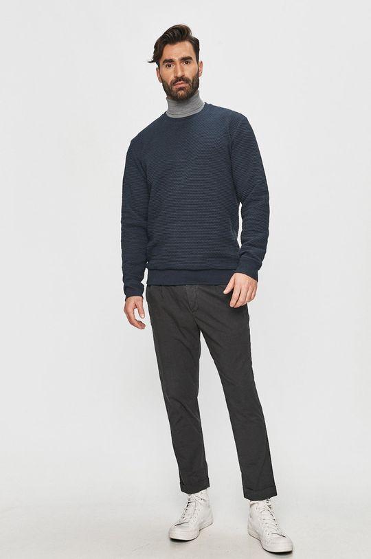 Tailored & Originals - Bluza bawełniana granatowy