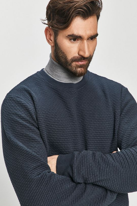 granatowy Tailored & Originals - Bluza bawełniana