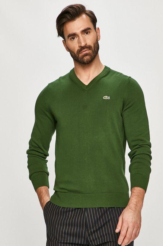 zielony Lacoste - Sweter Męski