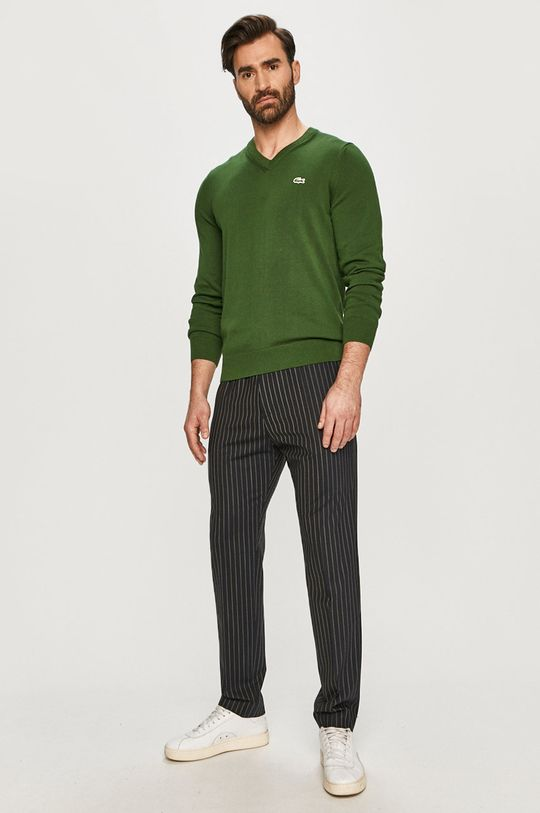Lacoste - Sweter zielony