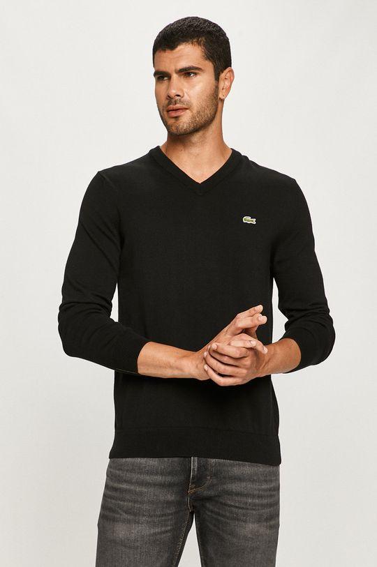 czarny Lacoste - Sweter