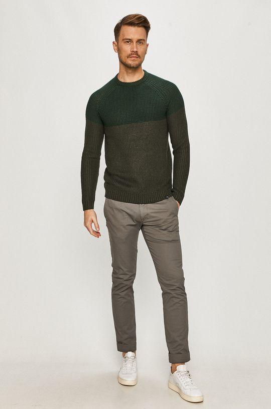 Only & Sons - Sweter stalowy zielony
