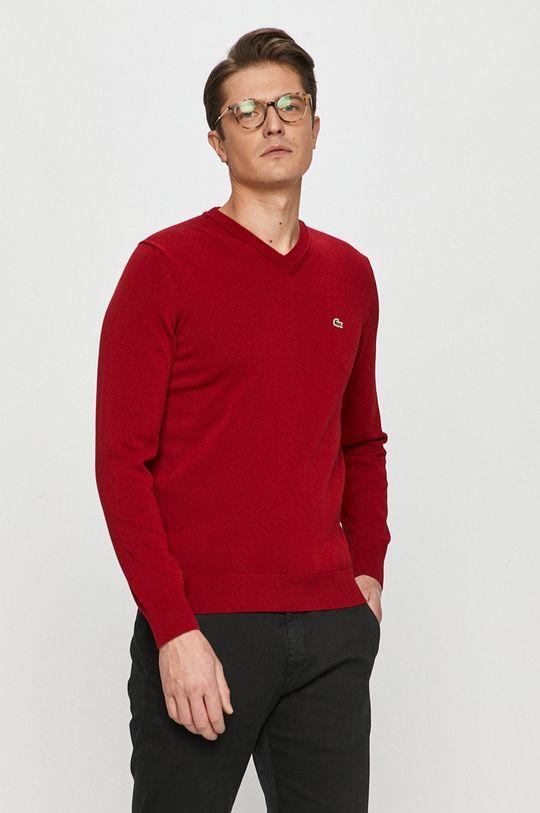czerwony Lacoste - Sweter Męski
