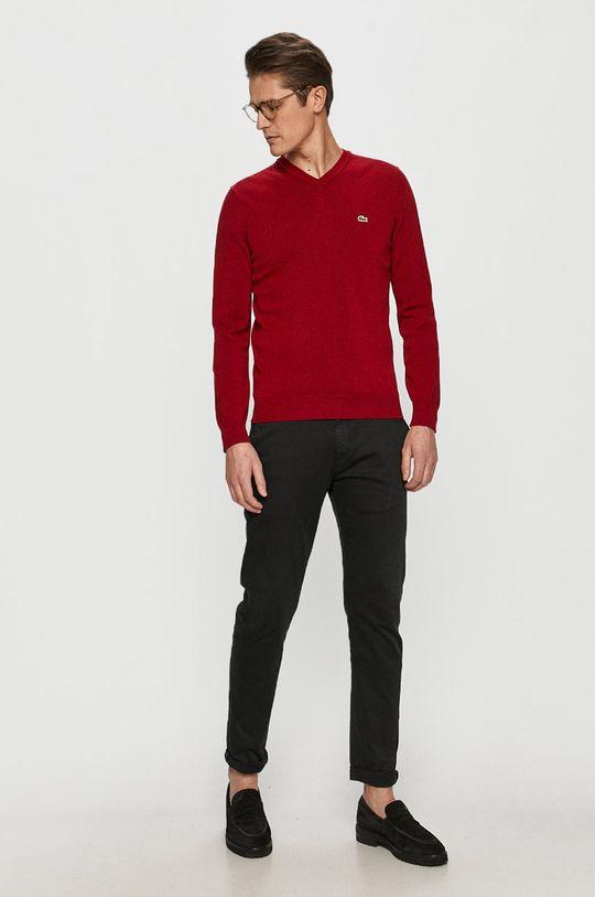 Lacoste - Sweter czerwony