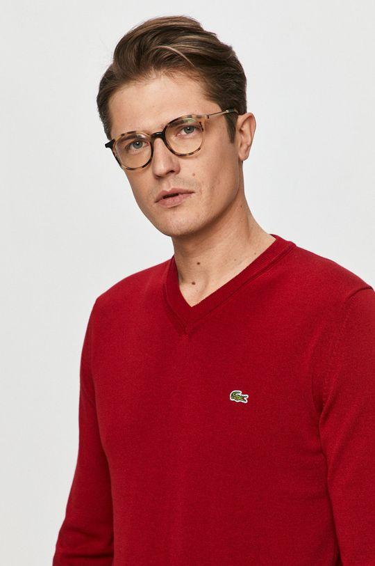 czerwony Lacoste - Sweter