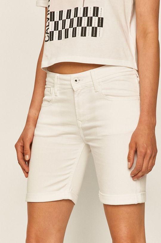 bílá Pepe Jeans - Džínové šortky Popy Short Pride Dámský