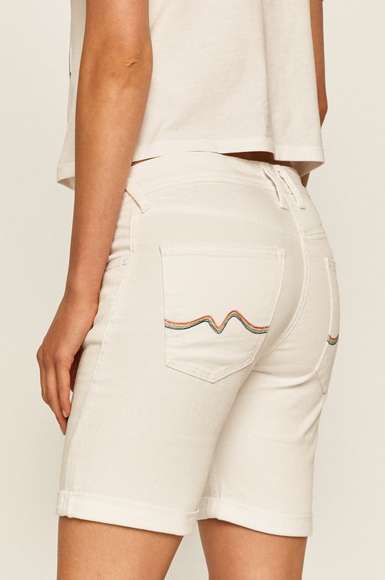 Pepe Jeans - Džínové šortky Popy Short Pride  99% Bavlna, 1% Elastan