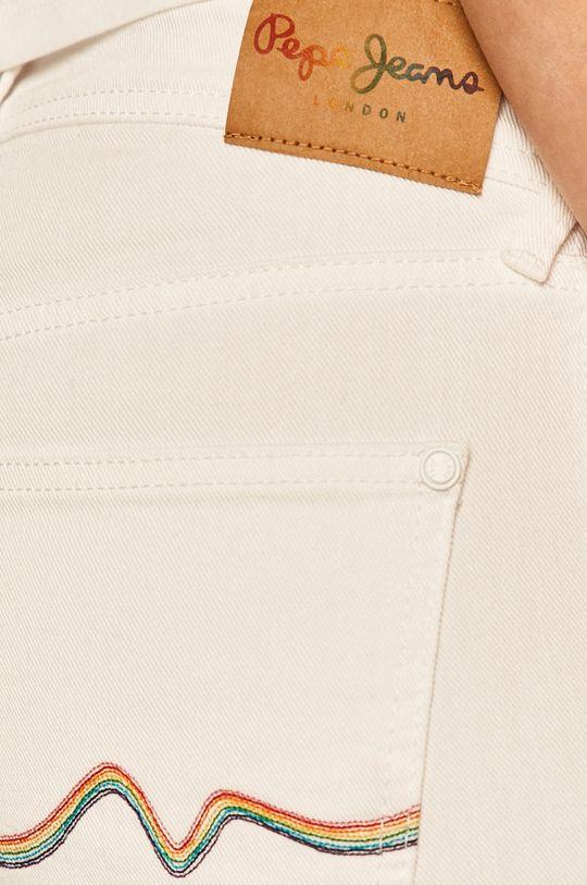 bílá Pepe Jeans - Džínové šortky Popy Short Pride
