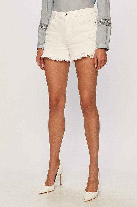 biela Jacqueline de Yong - Rifľové krátke nohavice Dámsky