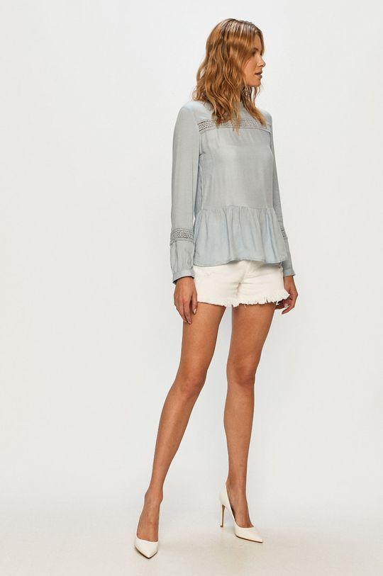 Jacqueline de Yong - Rifľové krátke nohavice biela