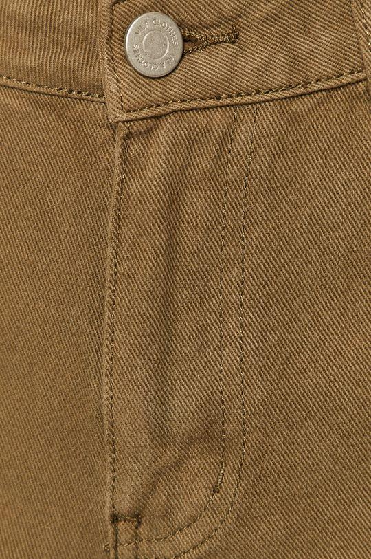 oliwkowy Vila - Szorty jeansowe