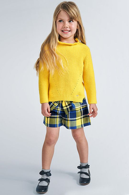 svetložltá Mayoral - Detské krátke nohavice 104-134 cm Dievčenský